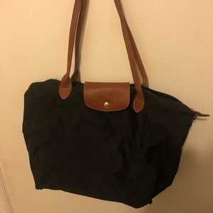 Black large longchamp bag